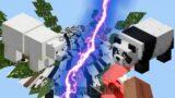 500 Polar Bears Vs 500 Pandas In Minecraft