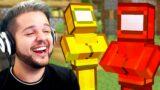 Among Us Crewmates RAID Minecraft Village!