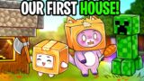 FOXY & BOXY Build Their FIRST HOUSE EVER In MINECRAFT! (SO MANY CHICKENS!!!)