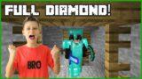 Getting FULL Diamond Armour and Tools in Minecraft Hardcore!
