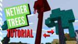 How To Grow NETHER TREES In Minecraft 1.16