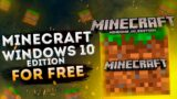 How to get MINECRAFT Windows 10 Edition for FREE 2020
