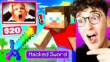 I Caught My LITTLE BROTHER Selling HACKS On MINECRAFT!