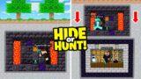 I made a SECRET Minecraft Base inside an ADMIN BASE! (Hide Or Hunt)