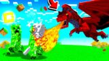 I tamed the ROYAL RED DRAGON in Minecraft!