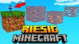 JEDER BLOCK IST RIESIG in Minecraft