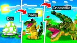 LIFE OF A PET CROCODILE IN MINECRAFT!