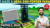 MINECRAFT MEGA GUNPOWDER/CREEPER FARM – MINECRAFT SURVIVAL GAMEPLAY IN HINDI #56