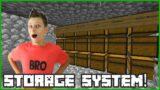 Making a Storage System in Hardcore Minecraft!