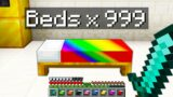 Minecraft Bedwars but you can spawn infinite beds…