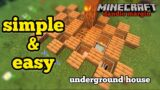 Minecraft: How To Build Underground House | Simple and Easy Tutorial