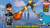 Minecraft | Jadugar Pirate Killed Oggy Friend Ben-10 | With Sinchan || Twikay Gamer