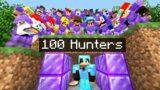 Minecraft Manhunt but it's VS 100 Netherite Hunters..