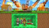 Minecraft NATURAL DISASTERS DESTROY VILLAGE FROM METEOR MOD / BUILD A SECRET BUNKER ! Minecraft Mods