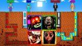 Minecraft   NOOB vs PRO vs HACKER vs GOD :  SCARY MAZE CHALLENGE in Minecraft ! AMV SHORT Animation