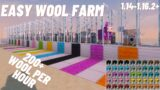 Minecraft Sheep Farm 1.14 – 1.16.2+ / Easiest Wool Farm!