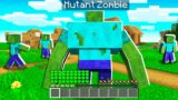 SURVIVING as a MUTANT ZOMBIE in MINECRAFT!