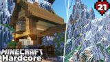 Stone Mason Villager House, Mega Mountain Update in Minecraft 1.16 Hardcore Survival