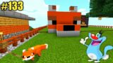 #133 | Minecraft | Making House For Foxy With Oggy And Jack | Minecraft Pe | In Hindi | Survival