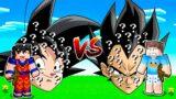 BETO VS DAVI: DESAFIO DA CASA DO DRAGON BALL COM ITENS DE LUCKY BLOCK NO MINECRAFT!