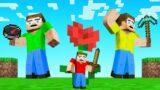 HUNTERS vs TINY SPEEDRUNNER in Minecraft!