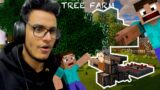 I Made an Automatic Tree Farm in Minecraft