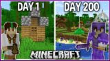 I Played Minecraft for 200 Days.. (1.16 Survival)