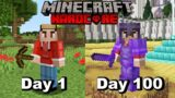 I Survived 100 Days In HARDCORE Minecraft And Here's What Happened…