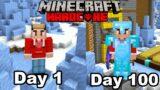 I Survived 100 Days In Ice Spikes HARDCORE Minecraft…