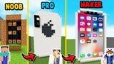 MINECRAFT – IPHONE CHALLENGE | NOOB vs PRO vs HAKER | Vito vs Bella
