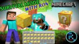 MINECRAFT   RON COLLECTED SOMUCH GOLD FOR LUCKY BLOCKS