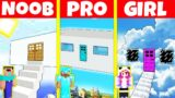Minecraft Battle: NOOB vs PRO vs GIRL: INSIDE CLOUD HOUSE BUILD CHALLENGE / Animation