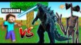 Minecraft | Herobrine Vs Burning Godzilla And Siren Head | Oggy And Jack | Minecraft Pe | In Hindi |