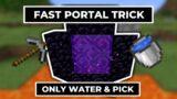 Minecraft How to Make Fast Portal Like Minecraft Speedrunners