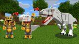Minecraft MORPHING AS INDOMINUS REX FROM JURASSIC WORLD !! DINOSAUR MOD !! Minecraft Mods