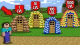 Minecraft NOOB vs PRO : WHICH RAREST PILE WILL NOOB UNBLOCK FOR 1000LVL VS 100LVL VS 10LVL VS 1LVL?