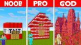 Minecraft NOOB vs PRO vs GOD: WHO BUILT THIS GIANT TNT HOUSE ?! (Animation)