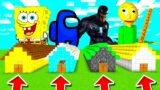Minecraft PE : DO NOT CHOOSE THE WRONG LONG HOUSE! (Venom, Spongebob, Among Us & Baldi's Basics)