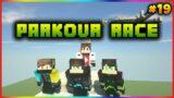 Minecraft Parkour Race with Friends   Minecraft Survival #19   in Telugu