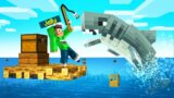 Playing RAFT In MINECRAFT! (Survival)