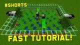 Sugarcane Farm Tutorial – Easy and Efficient! – Minecraft #shorts