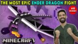 THE MOST EPIC ENDER DRAGON FIGHT – MINECRAFT SURVIVAL GAMEPLAY IN HINDI #68