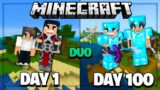 We Survived 100 Days in Minecraft on an Island – Duo Survival and Here's What Happened..