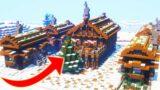 Winter Village in Minecraft – Timelapse