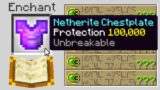 i secretly used Protection 100,000 armor in Minecraft UHC..