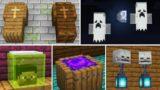10 Halloween Decorations & Build Hacks in Minecraft Java & Bedrock!