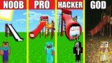 EXTRA SLIDE SCP HOUSE BUILD CHALLENGE – NOOB vs PRO vs HACKER vs GOD / Minecraft Animation