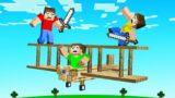 FLYING HUNTERS vs SPEEDRUNNER! (Minecraft)