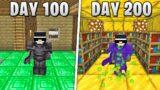 I Survived 200 Days in HARDCORE Minecraft…