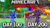 I Survived 200 Days in Modded Hardcore Minecraft.. Here's What Happened